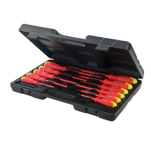 Silverline 918535 Insulated Soft Grip Screwdriver Set 11 Piece